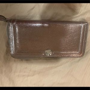Coach wallet bronze metallic